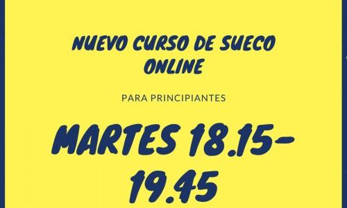 NUEVO CURSO DE SUECO ONLINE – AGOSTO 2021